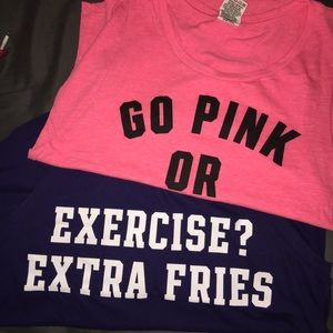 Two PINK Tanktops (s/m)